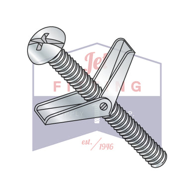 3/16X2 Toggle Bolts Round Head Combo Phillips/Slotted Steel Zinc