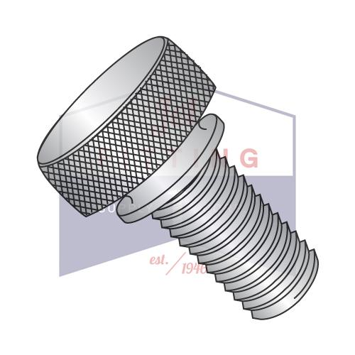 4-40X1/2 Knurled Thumb Screws with Washer Face  Stainless Steel