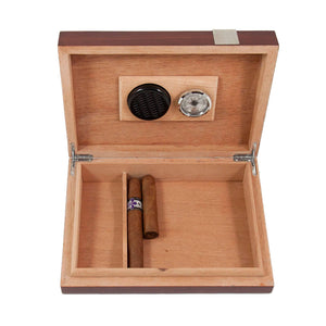 Lacquered Walnut Wood Cigar Humidor - the-southern-magnolia-too