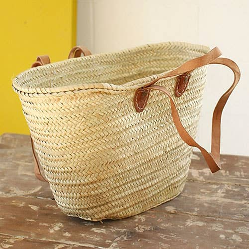 Hand Woven French Market Palm Basket - the-southern-magnolia-too