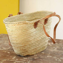 Load image into Gallery viewer, Hand Woven French Market Palm Basket - the-southern-magnolia-too