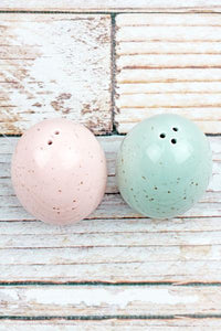 Speckled Egg Salt & Pepper Shaker Set - the-southern-magnolia-too