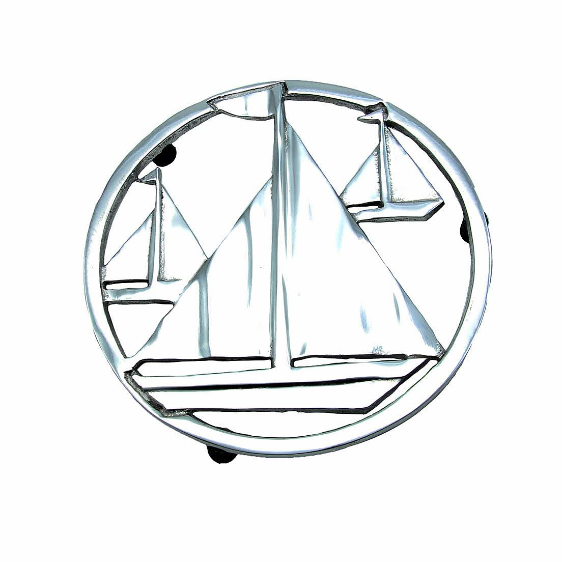 Silver Aluminum Sailboat Trivet - the-southern-magnolia-too