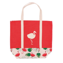 Load image into Gallery viewer, Canvas Flamingo Tote - the-southern-magnolia-too