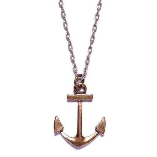 Mens Anchor Necklace - the-southern-magnolia-too
