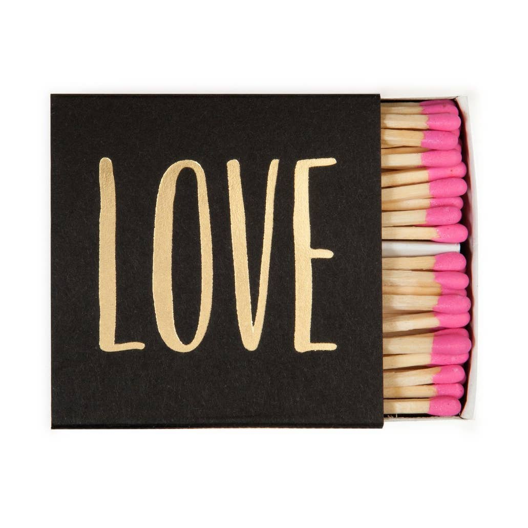 Love is Square Pink Tipped Matches - the-southern-magnolia-too