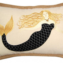 Load image into Gallery viewer, Sirens wear Black Mermaid Pillow - the-southern-magnolia-too