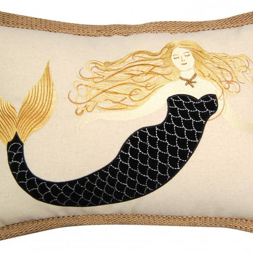 Sirens wear Black Mermaid Pillow - the-southern-magnolia-too
