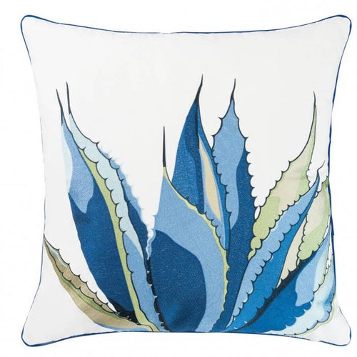 Embroidered Agave Cactus Pillow Outdoor Sunbrella(R) - the-southern-magnolia-too