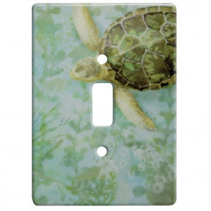 Sea Turtle Ceramic Single Switch Wall Floater Plate - the-southern-magnolia-too