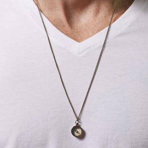 Mens Brass Compass Necklace - the-southern-magnolia-too