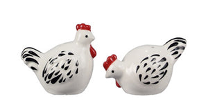 White Chicken Salt and Pepper Shaker Set - the-southern-magnolia-too