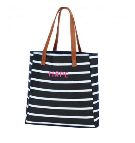Hope Black Stripe Tote - the-southern-magnolia-too