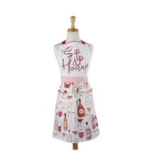 Load image into Gallery viewer, Sip Sip Hooray Printed Apron - the-southern-magnolia-too