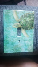 Load image into Gallery viewer, Sea Turtle Ceramic Single Switch Wall Floater Plate - the-southern-magnolia-too