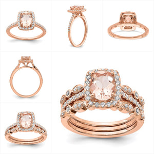 Rose Gold Wedding Rings Set - the-southern-magnolia-too