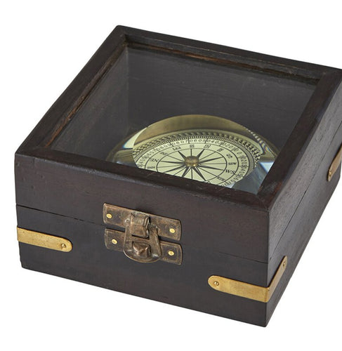 Nautical Compass With Box - the-southern-magnolia-too