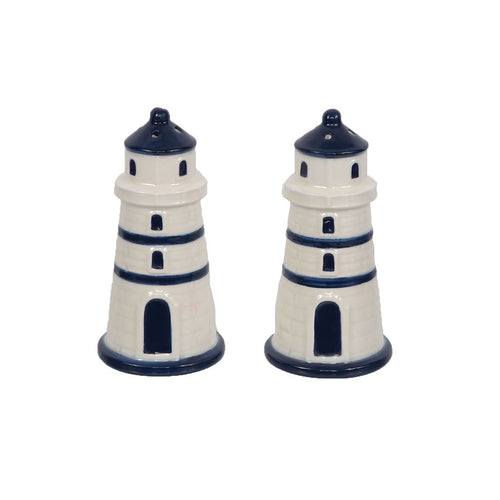 Lighthouse Ceramic Salt and Pepper Shaker Set - the-southern-magnolia-too