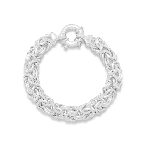 Oval Byzantine Sterling Silver Bracelet - the-southern-magnolia-too