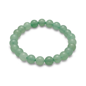 Green Aventurine Bead Stretch Bracelet - the-southern-magnolia-too