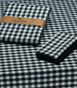 Black and White French Check Tablecloth - the-southern-magnolia-too