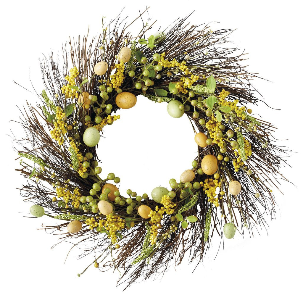 Spring Garden Wreath - the-southern-magnolia-too