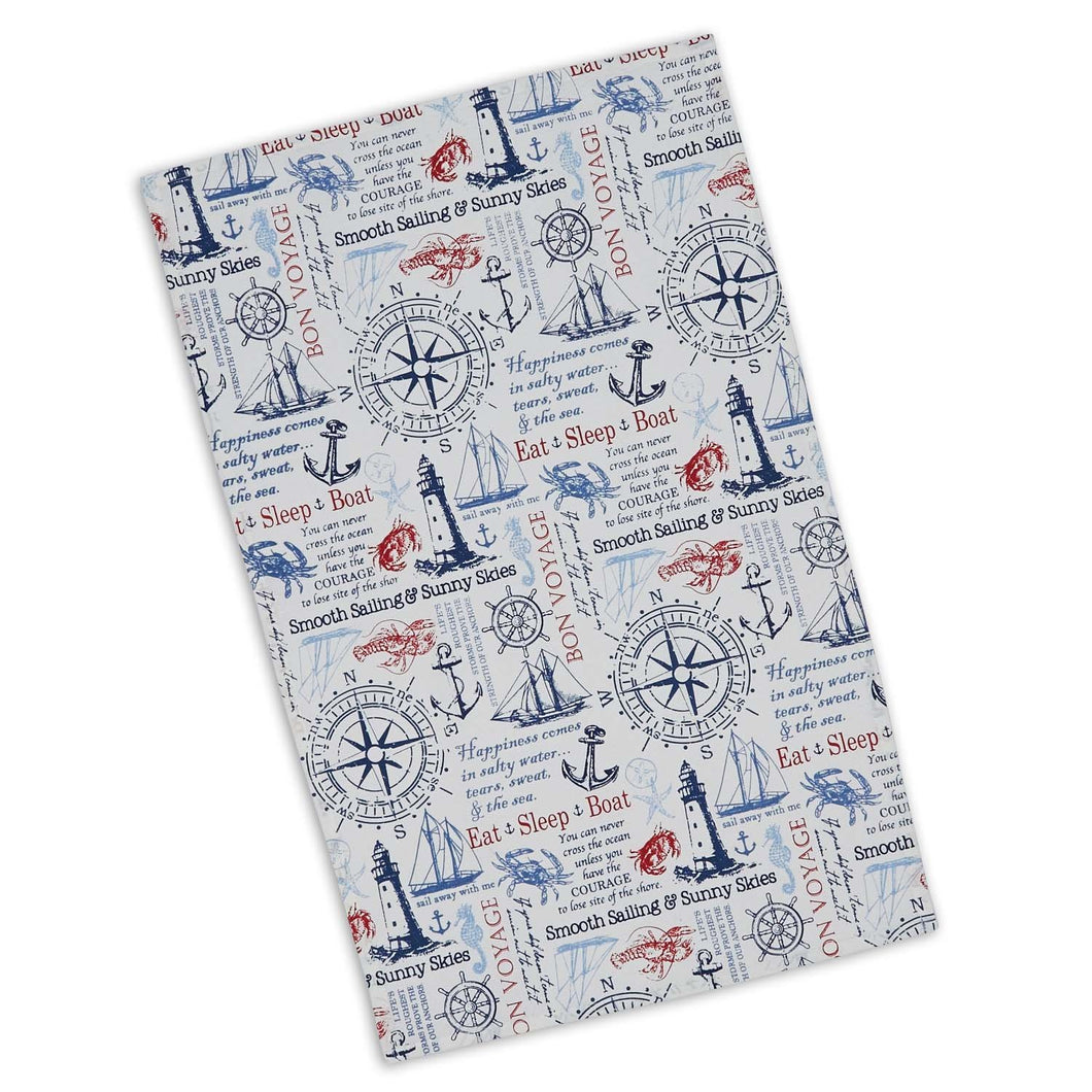 Maritime Printed Dishtowel Set - the-southern-magnolia-too