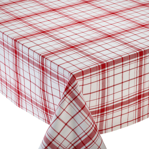 Red and White Check Down Home Plaid Tablecloth - the-southern-magnolia-too