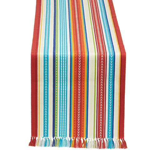 Baja Stripe Fringed Table Runner - the-southern-magnolia-too
