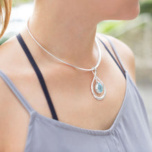 Load image into Gallery viewer, Pear Shape Pendant with Blue Topaz Drop - the-southern-magnolia-too