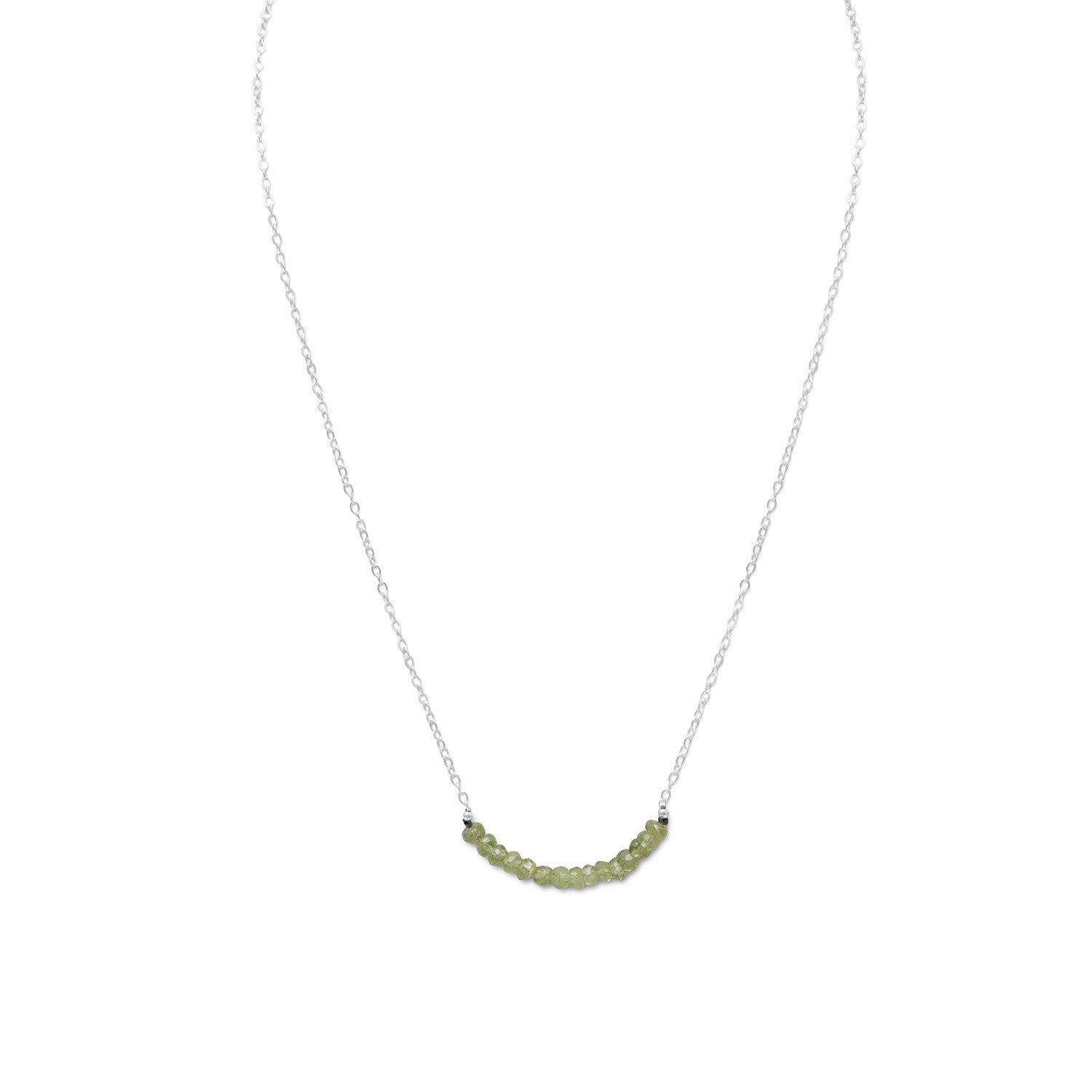 Faceted Peridot Bead Necklace - August Birthstone - the-southern-magnolia-too