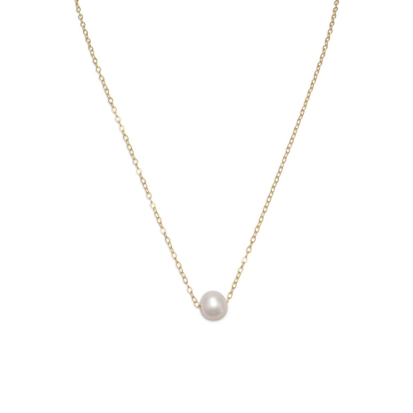 Gold Filled Floating Cultured Freshwater Pearl Necklace - the-southern-magnolia-too