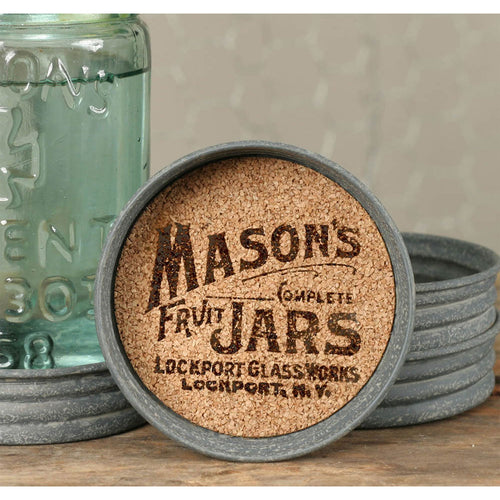 Cork Mason Jar Lid Coaster Set - the-southern-magnolia-too