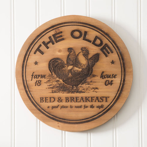 The Olde Bed and Breakfast Wood Lazy Susan - the-southern-magnolia-too