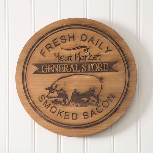 General Store Pig Wood Lazy Susan - the-southern-magnolia-too