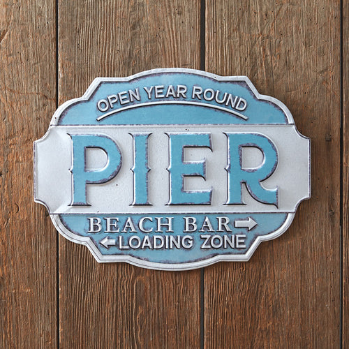 Beach Pier Metal Wall Sign***Arriving in Mid March*** - the-southern-magnolia-too