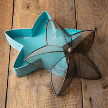 Load image into Gallery viewer, Teal Blue Metal Starfish Tray***Available in March*** - the-southern-magnolia-too