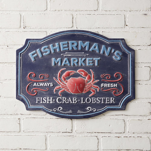 Fishermans Market Wall Sign***Available in March*** - the-southern-magnolia-too
