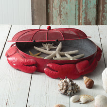 Load image into Gallery viewer, Red Metal Crab Tray***Available in March*** - the-southern-magnolia-too
