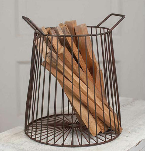 Farmhouse Metal Iron Basket - the-southern-magnolia-too