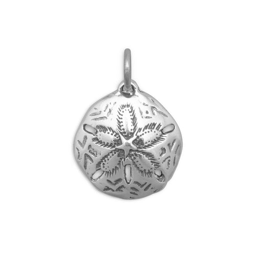 Oxidized Sand Dollar Charm - the-southern-magnolia-too