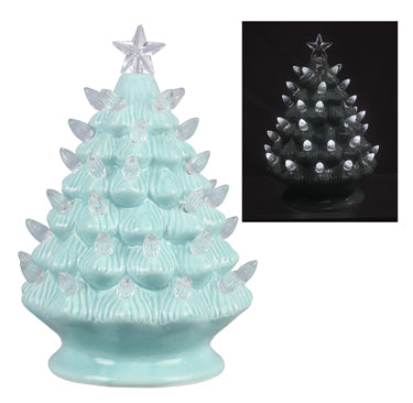 Small Blue Ceramic Christmas Tree - the-southern-magnolia-too