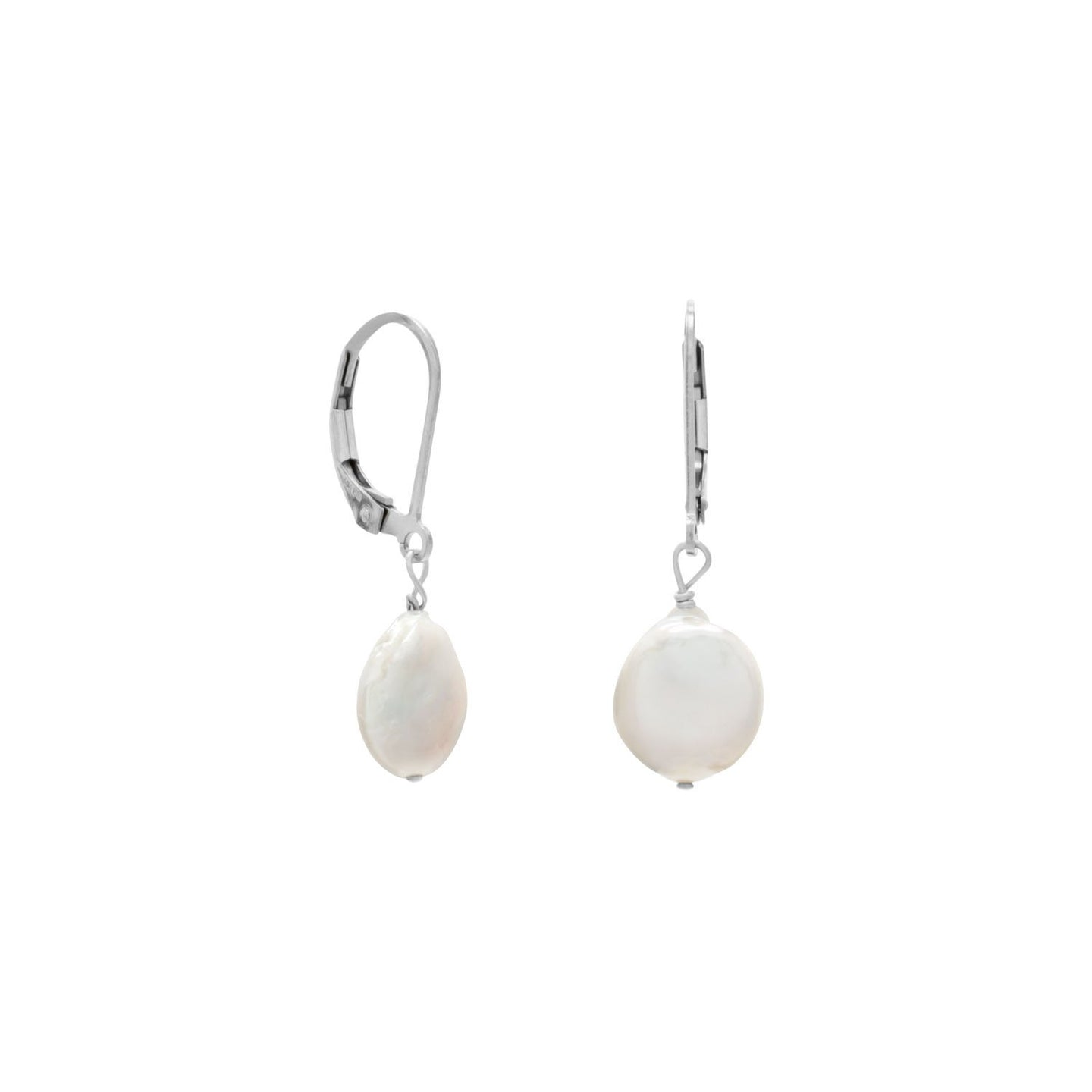 Cultured Freshwater Coin Pearl Earrings - the-southern-magnolia-too