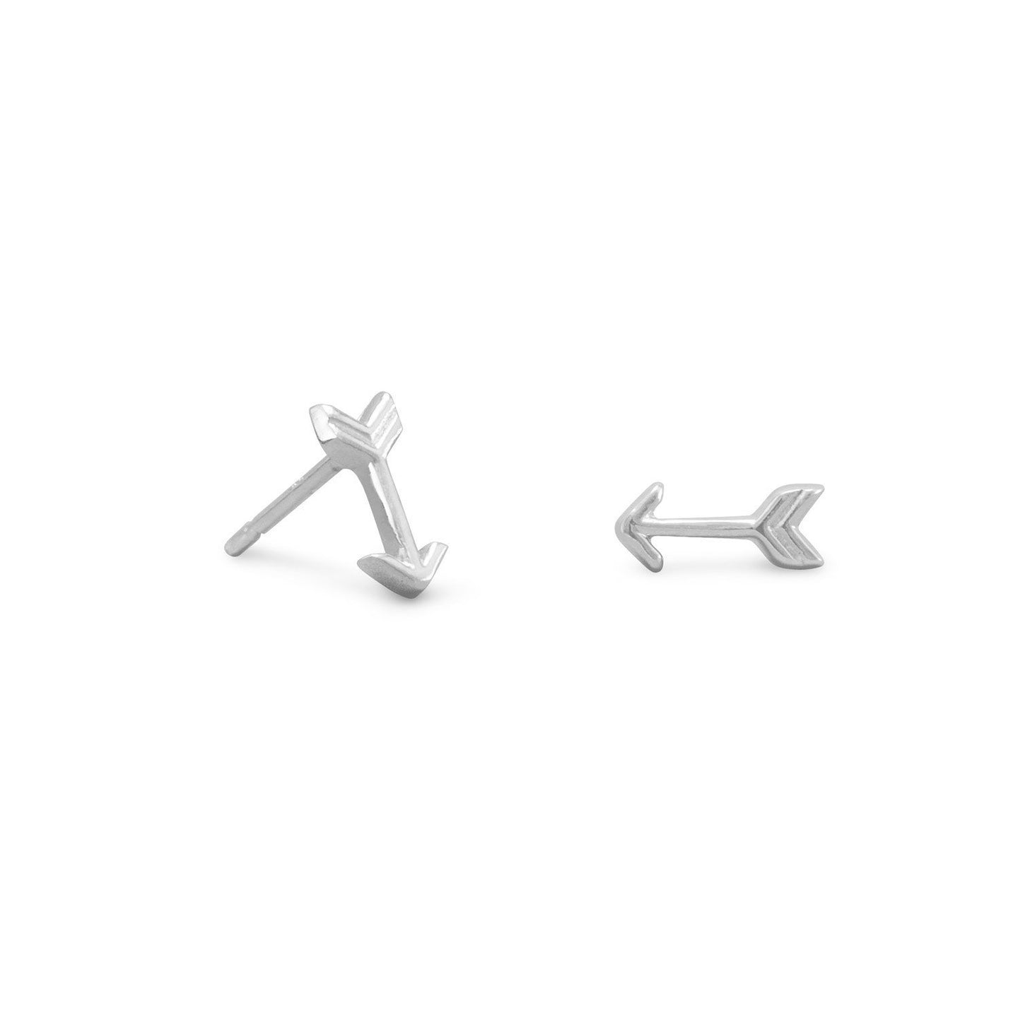 Rhodium Plated Small Arrow Earrings - the-southern-magnolia-too