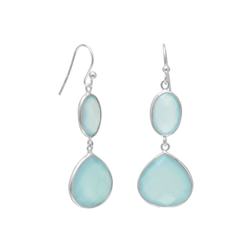 Sea Green Chalcedony Drop Earrings - the-southern-magnolia-too