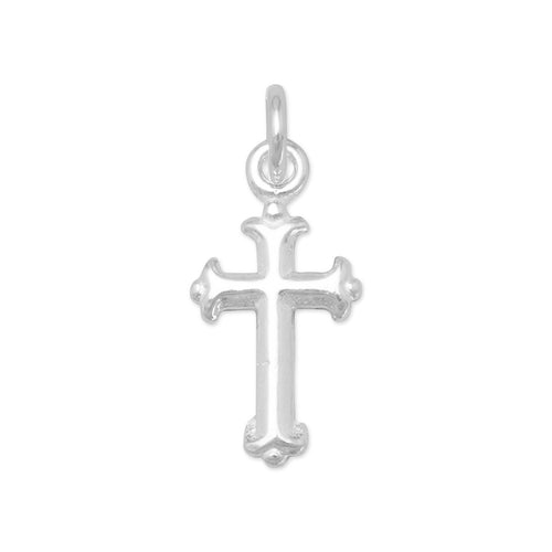Extra Small Silver Cross Charm - the-southern-magnolia-too