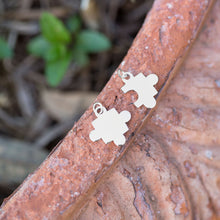 Load image into Gallery viewer, Rhodium Plated Puzzle Piece Charms - the-southern-magnolia-too