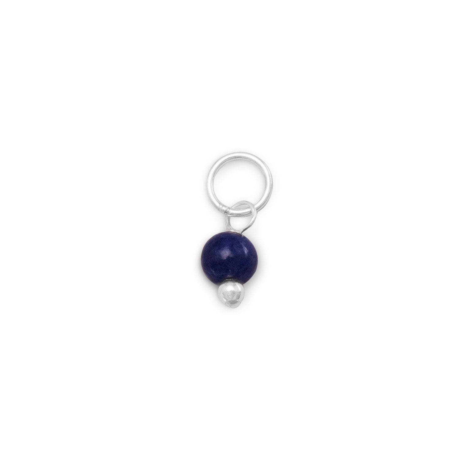 Corundum Bead Charm - September Birthstone - the-southern-magnolia-too