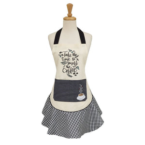 Coffee Time Embellished Apron - the-southern-magnolia-too