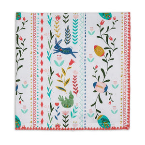 Folk Stripe Bunny Printed Napkin Set - the-southern-magnolia-too